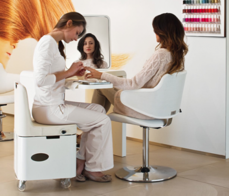 Use of Manicure Table at a Luxury Beauty Salon